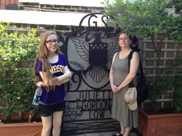 Erin and I by the Juliette Gordon Low memorial gate.