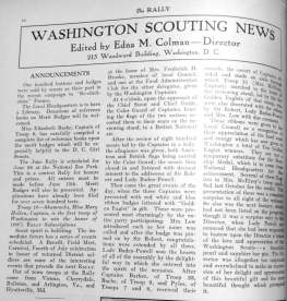pages from washington scouting news