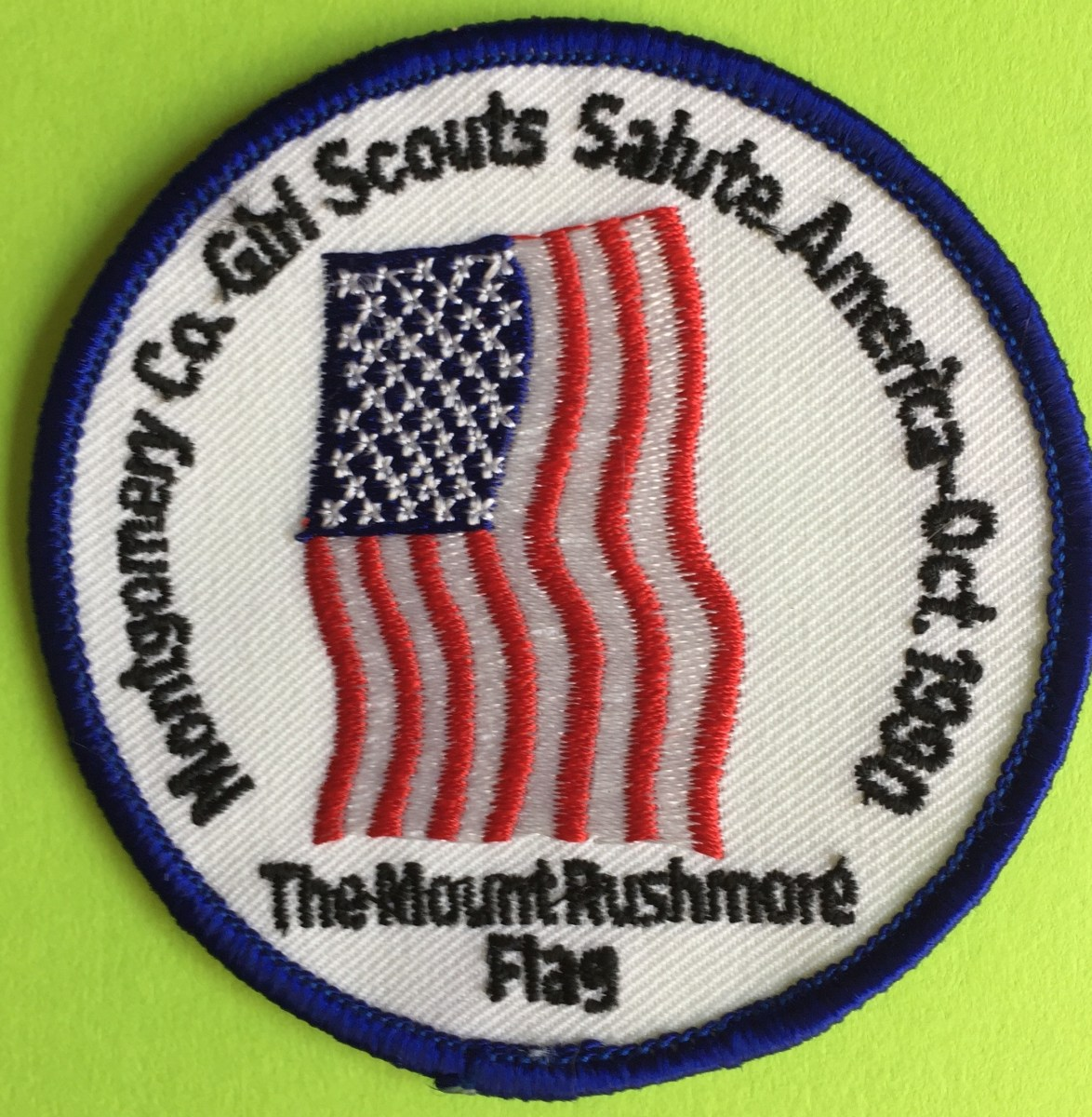 mt rushmore flag patch