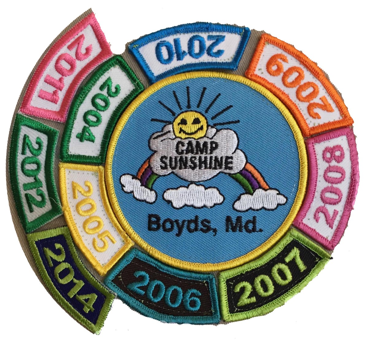 sunshine full circle white