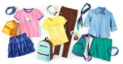 New Girl Scout uniforms for Daisies, Brownies, and Juniors