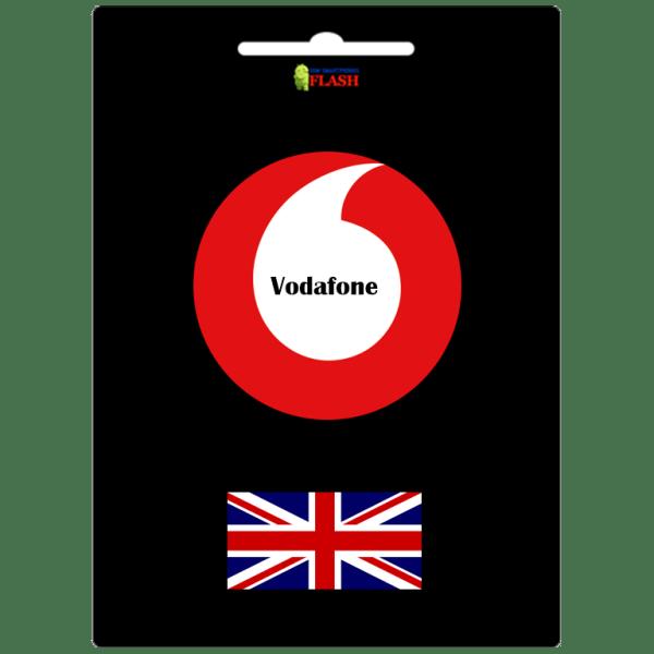 Vodafone UK network unlock code service