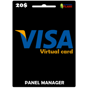Prepaid Virtual Visa Card 20 USD (works worldwide)