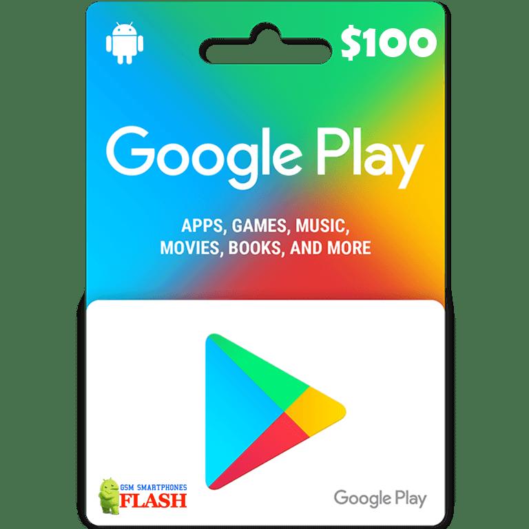 Google Play Gift Card 100USD (US) - gsm-flash
