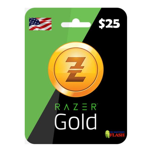 Razer Gold 25 USD Card Email Delivery (Rixty)