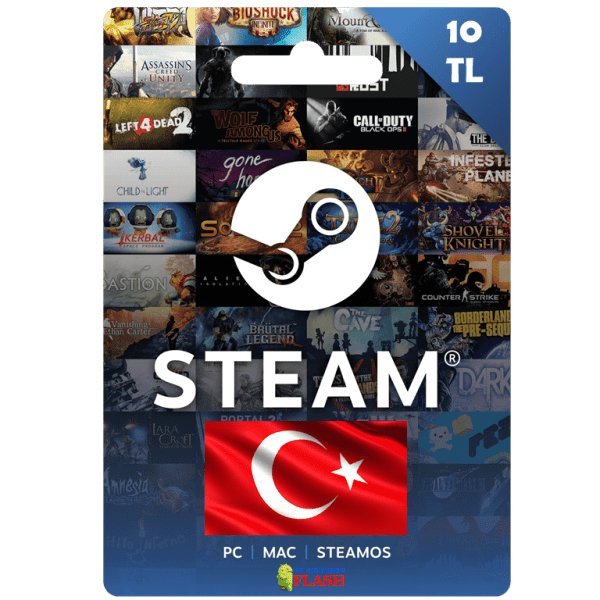 Steam Wallet Code 10 TL (Turkey) Cheap