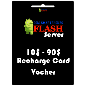 Gsmflashserver.com recharge voucher 10 to 90 credits