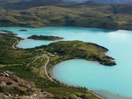 Lago Pehoe desde el mirador del Cóndor