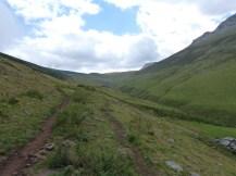 Bajando el valle de La Mesa.