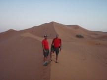 En las dunas.