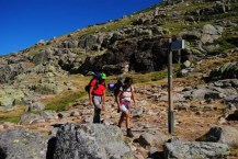 Llegando al Refugio del Belesar (Foto Luis M. Villar)