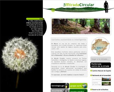 Pagina de inicio de La Mirada Circular