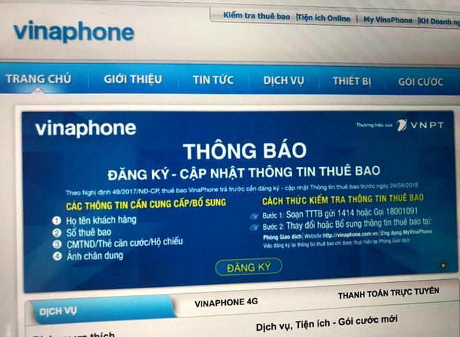 Cap nhat thong tin thue bao dien thoai khong can ra duong