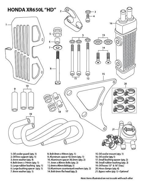 Honda XR650L XR600 NX650 Oil Cooler from GSMark