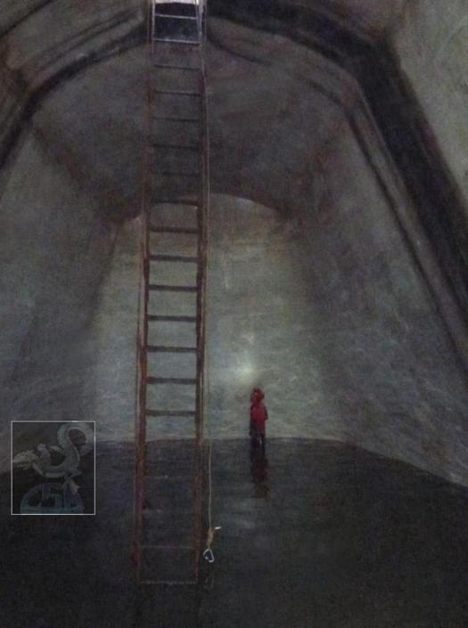 l'interno della cisterna da N