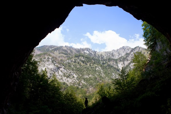L'ingresso di Shpella Lumi