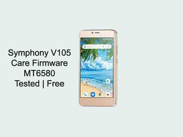 Symphony V105 Firmware Flash File