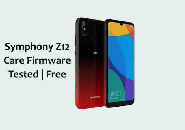Symphony z12 Care Firmware Flash File