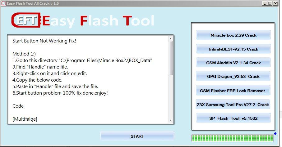 Crack flash tool