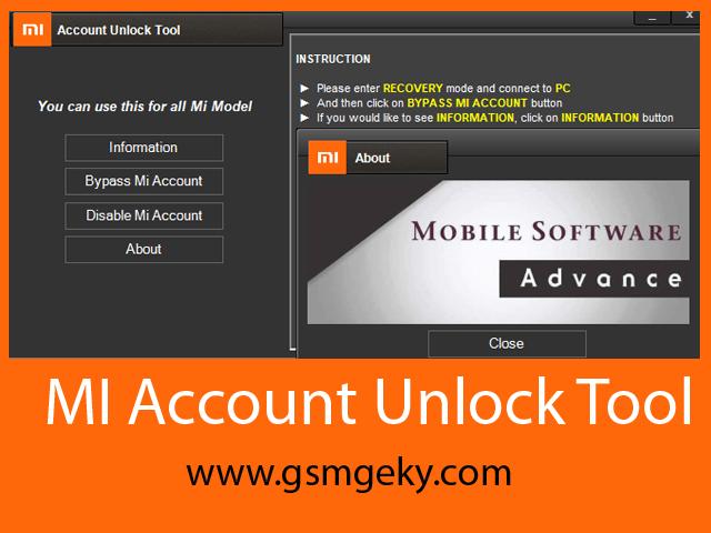 Mi Account unlock Tool Free Download | GSM Geeky