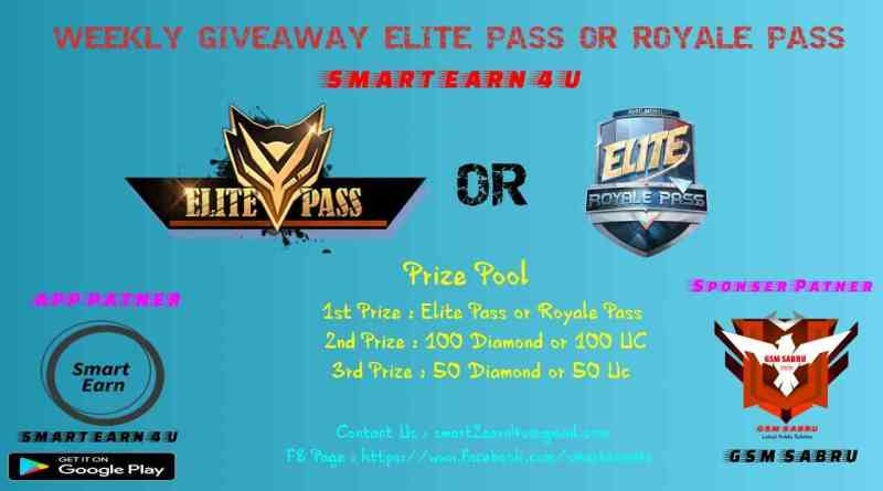 Weekly Giveaway Elite Pass Or Royale Pass