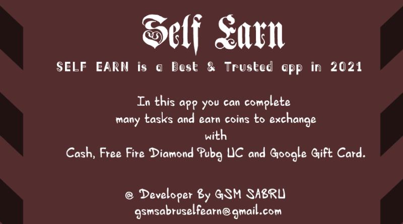Self Earning App | Real Cash Earning |