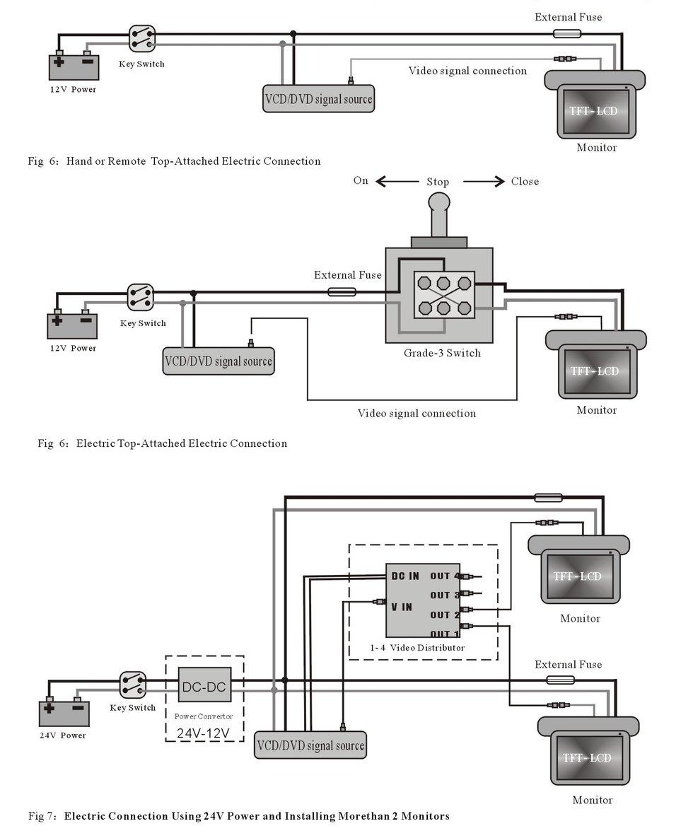 medium resolution of tft 24 in flip down monitor wiring diagram 42 wiring monitor wiring diagram kib micro monitor