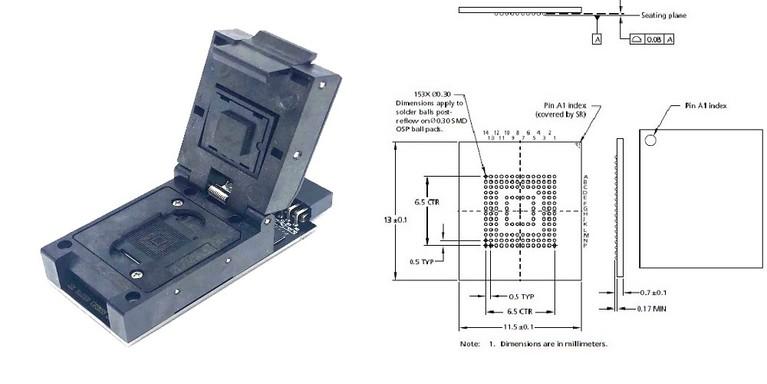 BGA-153 Socket Adapter