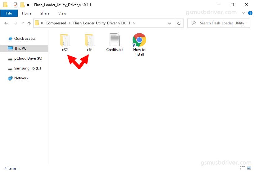 Flash Loader Utility Driver Folder