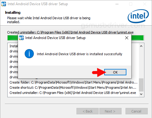 Intel Android Driver OK