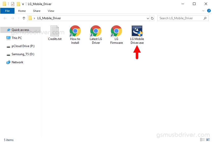 LG USB Driver Setup