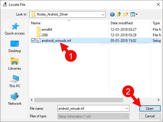Locate Nvidia Inf File
