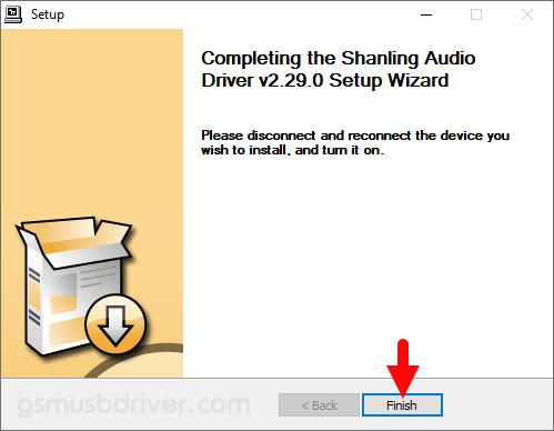 Shanling Audio Driver Setup Finish