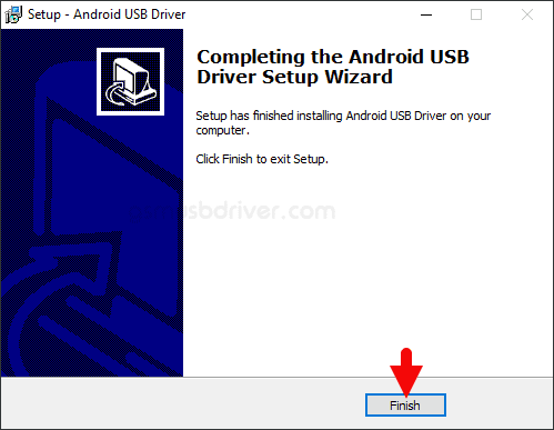 ZTE Android USB Driver Setup Finish