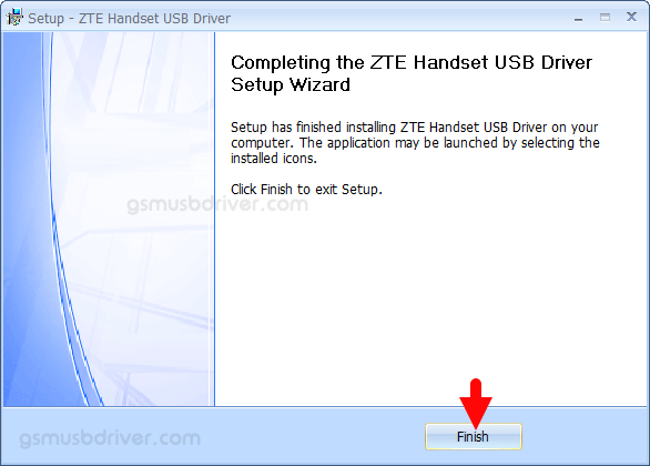 ZTE Handset USB Driver v5.2066.1.8 Finish