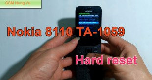 Hard Reset Nokia 8110 4G Security Code