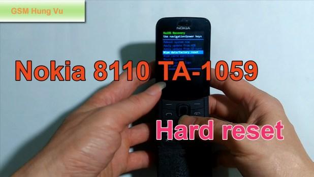 Hard Reset Nokia 8110 4G Security Code