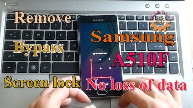 Samsung A510F Pattern Lock Remove no loss of data