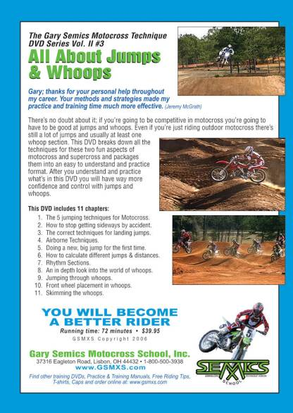 GSMXS MX Jumps Whoops rear cover