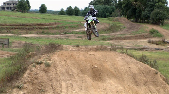 sideways motocross jumps