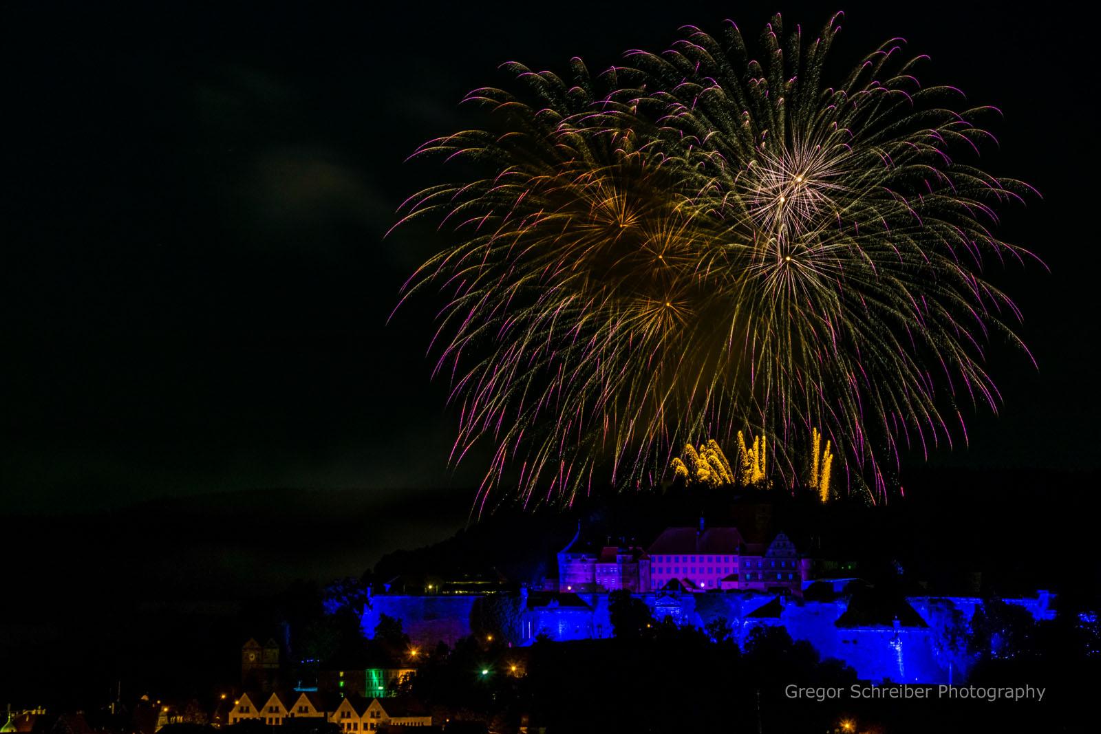 Feuerwerk Kronacher Freischießen 2016