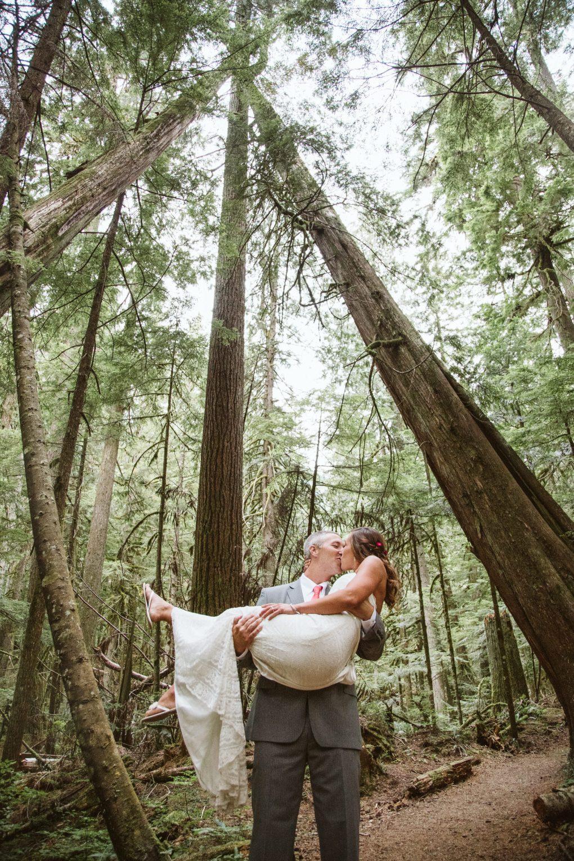 Deception Falls Wenatchee National Forest Elopement Washington State