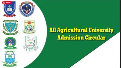 All Agricultural University Admission Circular