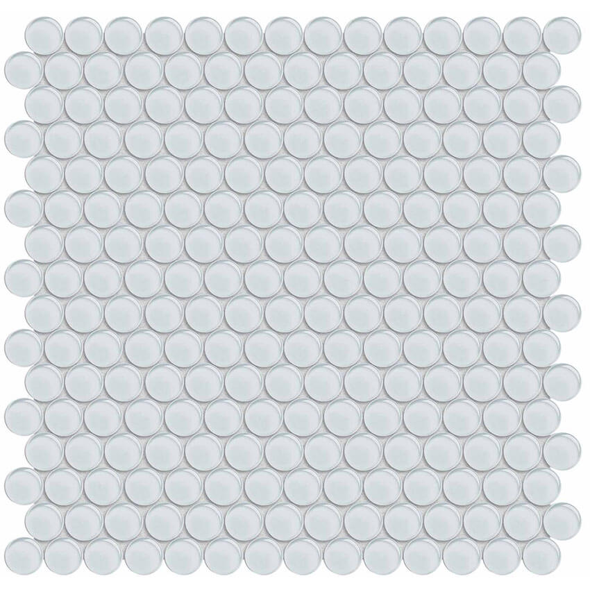 ice penny round glass mosaic from