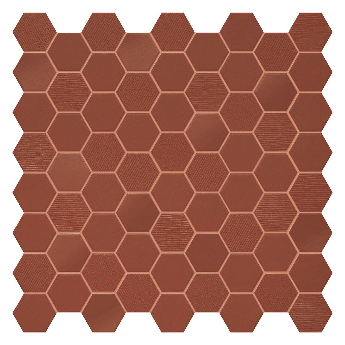 deep navy hex mosaics 12 x 12 matte
