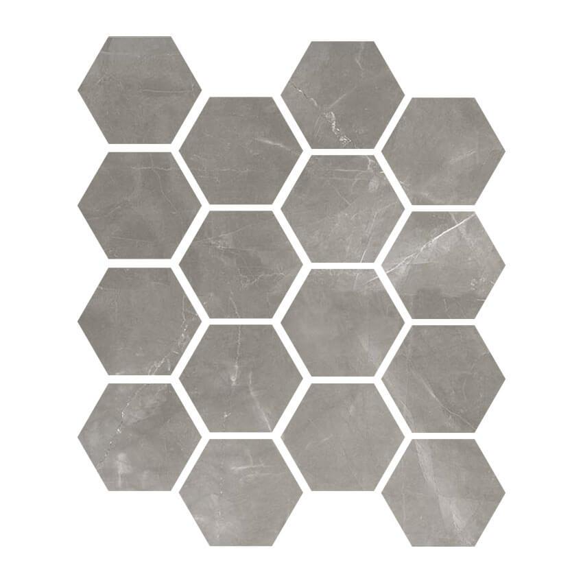 amani grey hex mosaic matte from garden