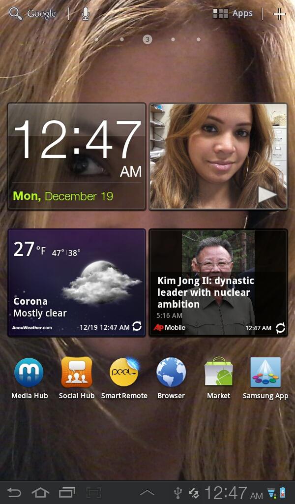 Samsung Galaxy Tab Plus - Homescreen and Widgets
