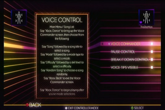 Dance Central 2 - Voice Control