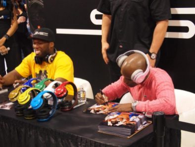 SMS Audio (10) - 50 Cent pushes SMS Audio - 50 Cent - Money Mayweather - CES 2012 - Signs Autographs 3