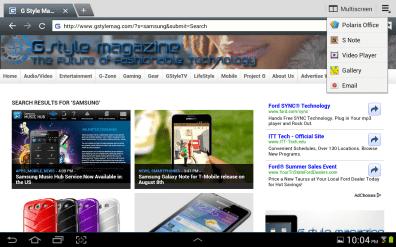 Samsung Galaxy Note 10.1 - Browser